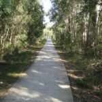 Bikeway Ningi to Bribie Island beside Bribie Island Road. Maintained by Main Roads. CPTED compliant.