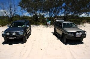 Not only have these permit holders set up on the soft sand areas, they are interfering with the vegetation on the dune. Another activity that is not approved under the Terms and Conditions